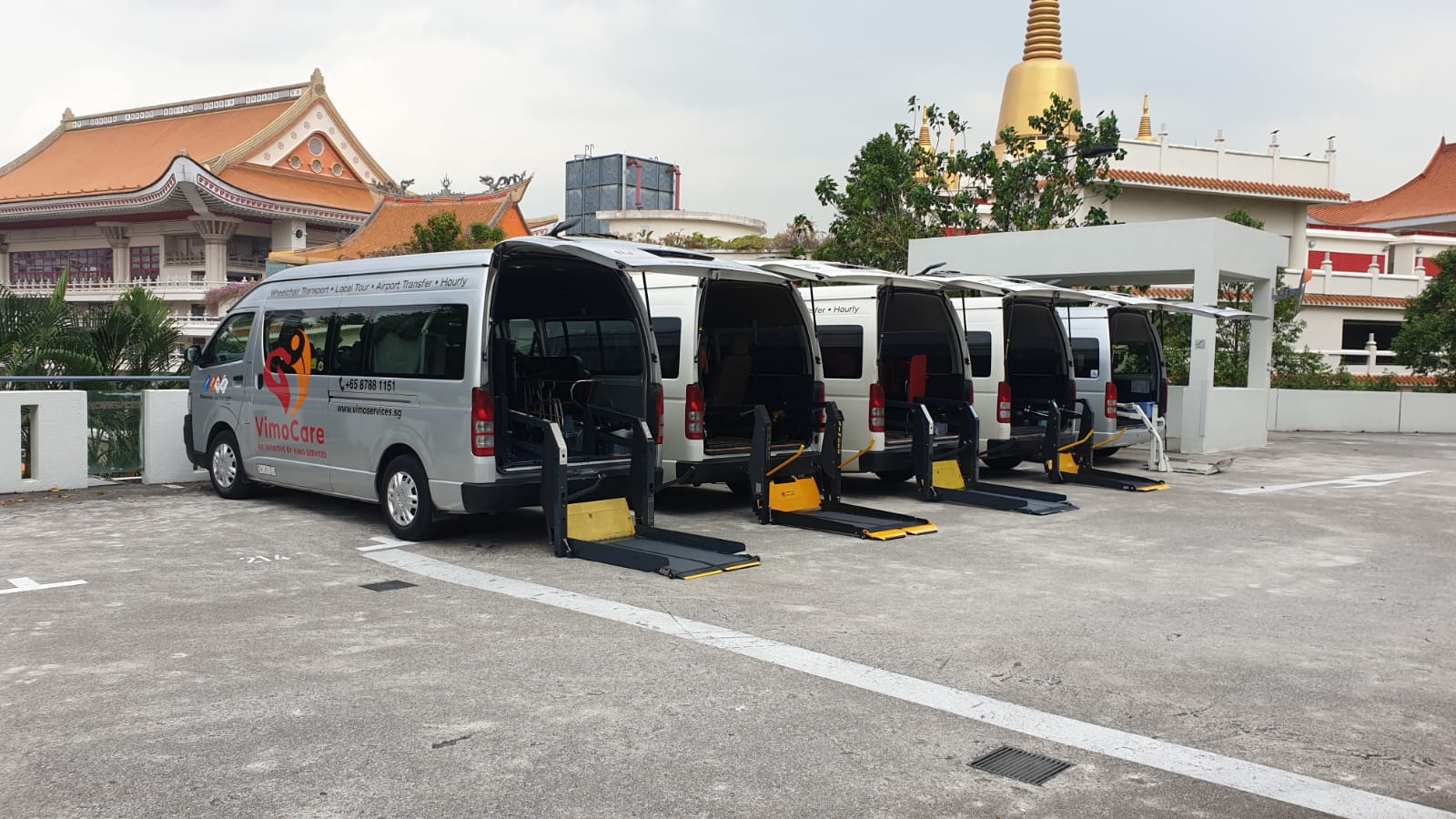vimo servces fleet of wheelchair accessible vehicles